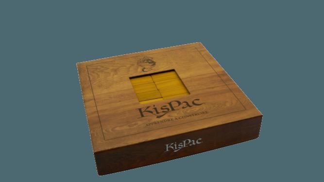 boite de planchettes en bois du jeu kispac