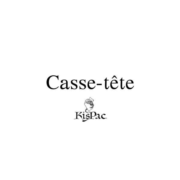 Citation casse-tête logo blanc kispac planchettes de jeu en bois 200