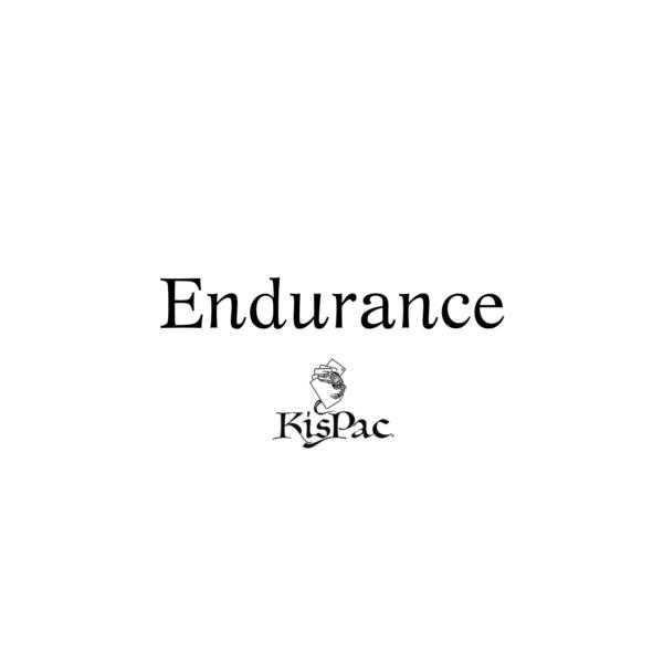 Citation endurance KISPAC® logo blanc KISPAC® kispac planchettes de jeu en bois 200