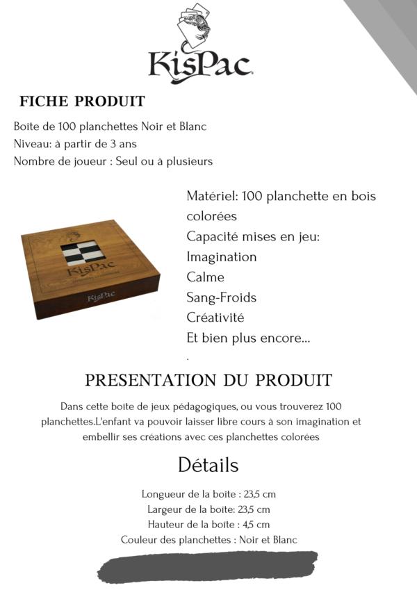 KISPAC® kispac planchettes de jeu en bois 100