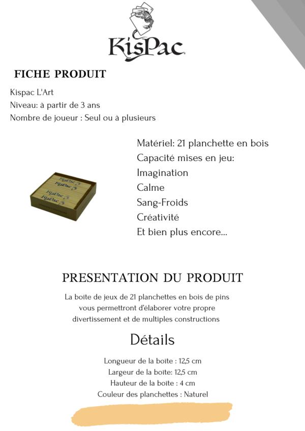 KISPAC® kispac planchettes de jeu en bois 200